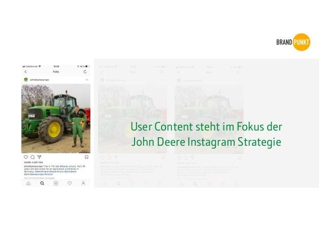 User Content steht im Fokus der John Deere Instagram Strategie