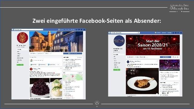 11 mitreißend digital Zwei eingeführte Facebook-Seiten als Absender: 11
