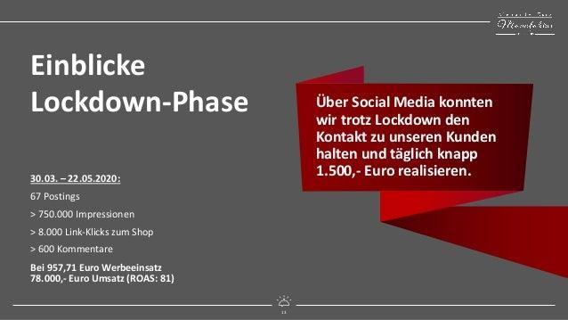 13 mitreißend digital 13 Einblicke Lockdown-Phase 30.03. – 22.05.2020: 67 Postings > 750.000 Impressionen > 8.000 Link-Kli...