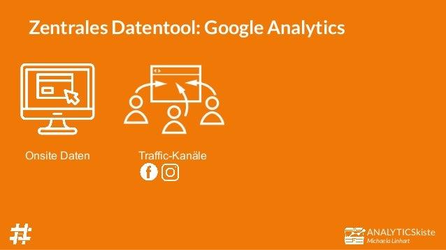 ANALYTICSkiste Michaela Linhart Zentrales Datentool: Google Analytics Onsite Daten Traffic-Kanäle