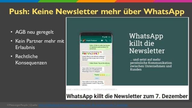 Push: Keine Newsletter mehr über WhatsApp • AGB neu geregelt • Kein Partner mehr mit Erlaubnis • Rechtliche Konsequenzen ©...