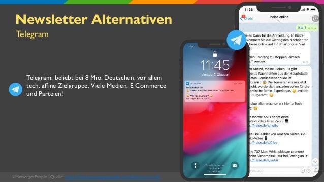 ©MessengerPeople   Quelle: https://www.messengerpeople.com/de/was-ist-notify Newsletter Alternativen Telegram: beliebt bei...