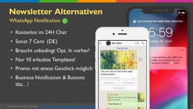 Newsletter Alternativen • Kostenlos im 24H Chat • Sonst 7 Cent (DE) • Braucht unbedingt Opt. In vorher! • Nur 10 erlaubte ...