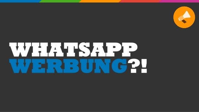 WHATSAPP WERBUNG?!