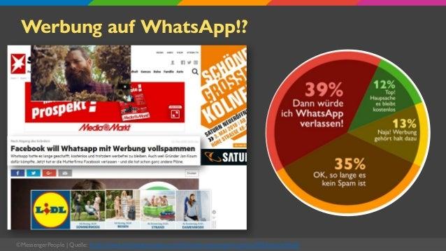 Werbung auf WhatsApp!? ©MessengerPeople   Quelle: https://www.messengerpeople.com/de/studie-messenger-nutzung-2020-deutsch...