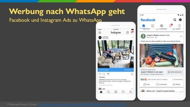 Werbung nach WhatsApp geht Facebook und Instagram Ads zu WhatsApp ©MessengerPeople   Quelle: https://www.facebook.com/busi...