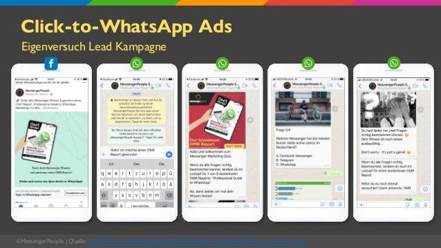 Click-to-WhatsApp Ads Eigenversuch Lead Kampagne ©MessengerPeople   Quelle: https://www.messengerpeople.com/de/messenger-m...