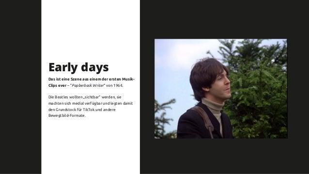 """Early days Das ist eine Szene aus einem der ersten Musik- Clips ever – """"Papberback Writer"""" von 1964. Die Beatles wollten """"..."""