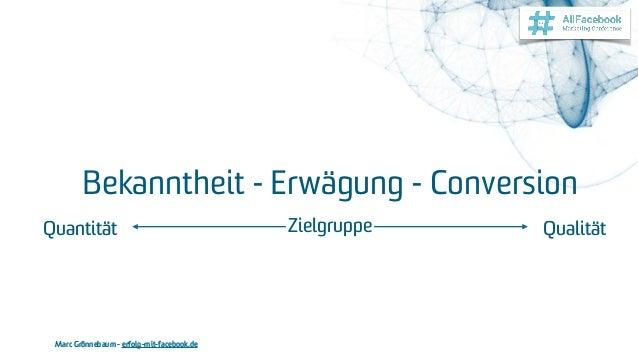Marc Grönnebaum - erfolg-mit-facebook.de Bekanntheit - Erwägung - Conversion QualitätQuantität Zielgruppe