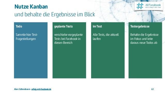 Marc Grönnebaum - erfolg-mit-facebook.de Nutze Kanban und behalte die Ergebnisse im Blick 62 Todo  Sammle hier Test- Fr...