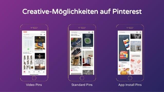 Creative-Möglichkeiten auf Pinterest Video Pins Standard Pins App Install Pins