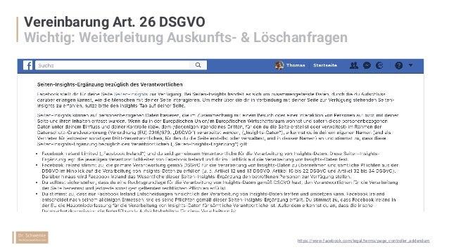 Eigener Datenschutzhinweis Auf der Facebook Page https://www.facebook.com/legal/terms/page_controller_addendum