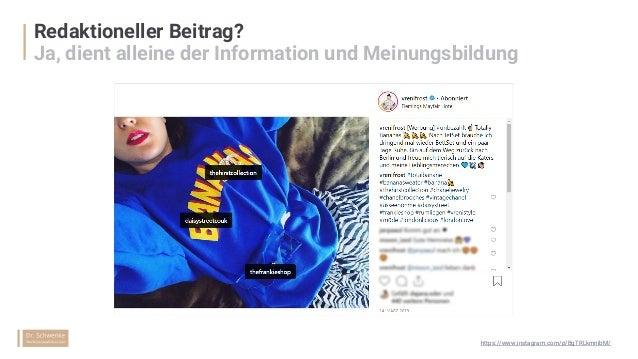 """Plattformeigene Hinweise statt """"Werbung"""" & """"Anzeige""""? Gerichtlich nicht prüft, eher ein Risiko https://www.instagram.com/p..."""