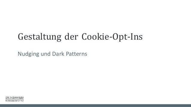 Gestaltung der Ablehnung Nudging und Dark Patterns
