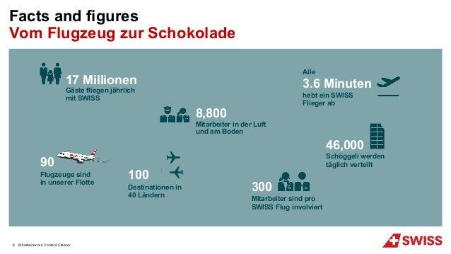 MItarbeiter als Content Creator Facts and figures Vom Flugzeug zur Schokolade 8,800 Mitarbeiter in der Luft und am Boden 1...