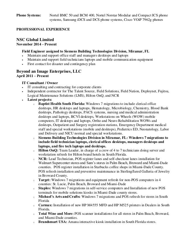 luis a cruz it professional resume 2015 - What A Professional Resume Looks Like
