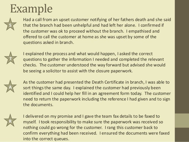 competency statement examples