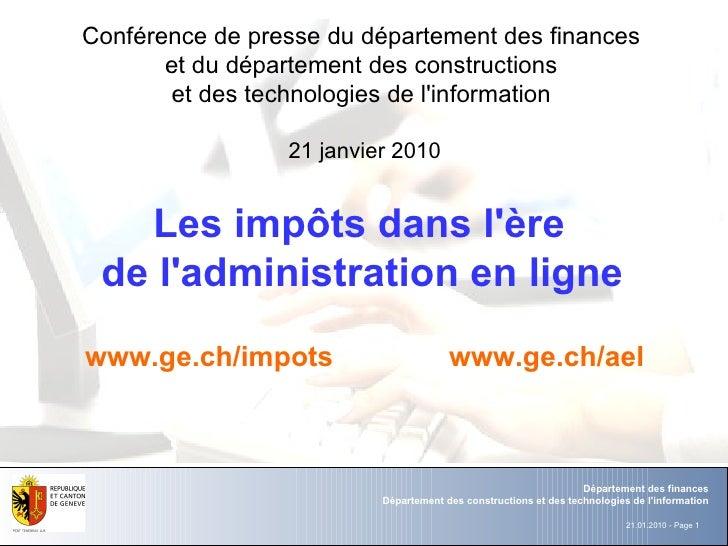 Département  des  finances Département des constructions et des technologies de l'information Conférence de presse du dépa...