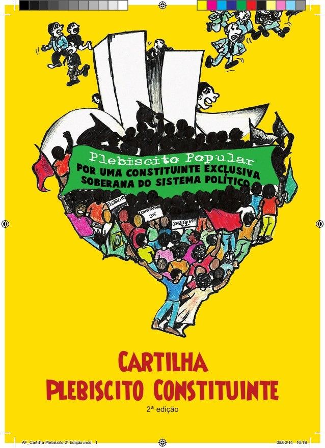 AF_Cartilha Plebiscito 2ª Edição.indd 1 06/02/14 16:18