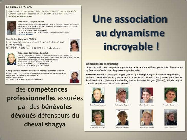 Une associationau dynamisme incroyable !<br />des compétences professionnelles assurées par des bénévoles dévoués défenseu...