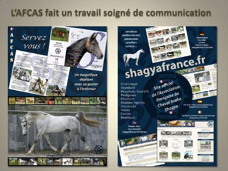 L'AFCAS fait un travail soigné de communication<br />