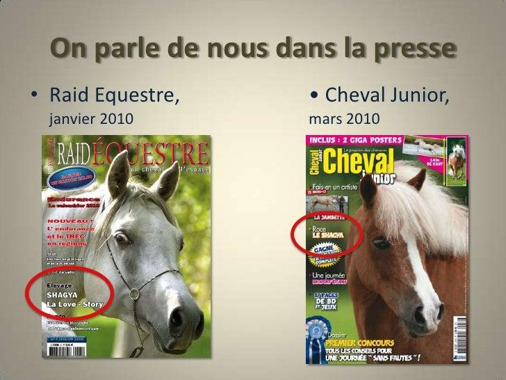 On parle de nous dans la presse<br />Raid Equestre, •Cheval Junior, janvier 2010                                   ...