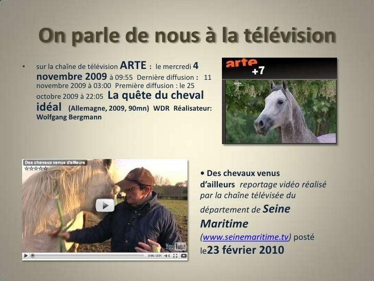 On parle de nous à la télévision<br />sur la chaîne de télévision ARTE :le mercredi 4 novembre 2009 à 09:55Dernière diff...