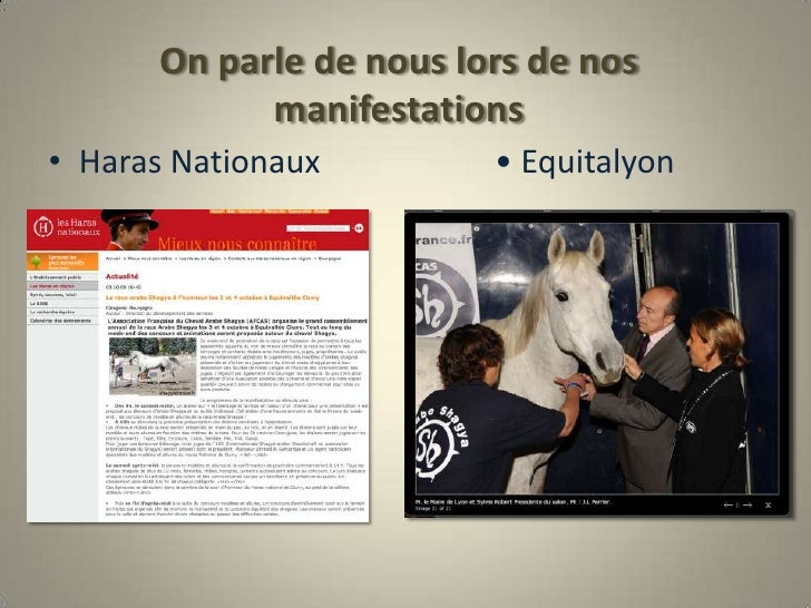 On parle de nous lors de nos manifestations <br />Haras Nationaux•Equitalyon<br />