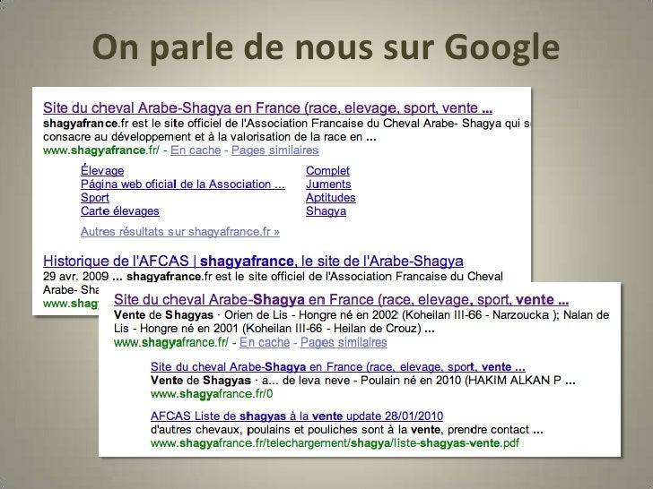 On parle de nous sur Google<br />