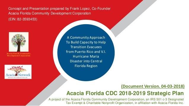 2018 2019 Sunshine State Cdc Strategic Plan