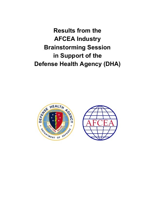 Afcea Defense Health Agency Dha Brainstorming Session Notes