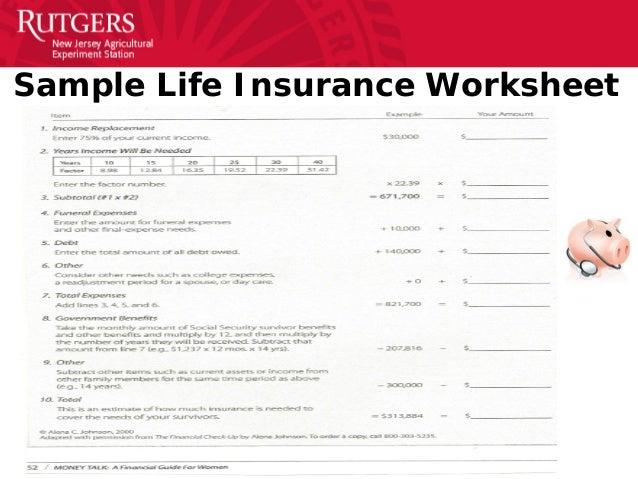 AFCPE 201425 Financial Wellness Metrics – Life Insurance Needs Worksheet