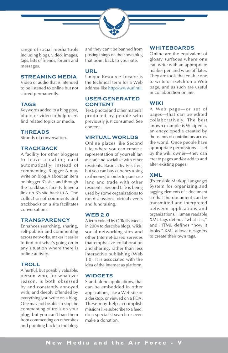 Air Force New Media Manual