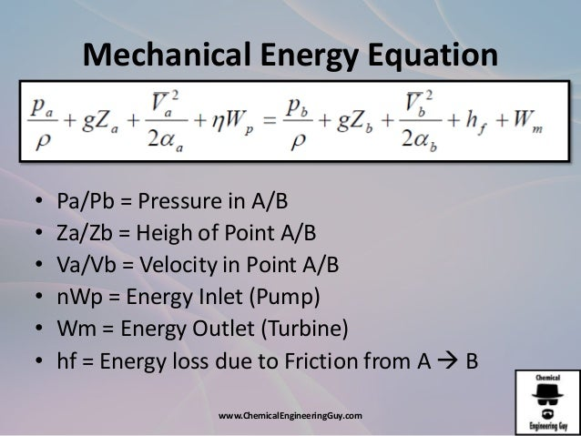 Afd1 The Mechanic Energy Equation