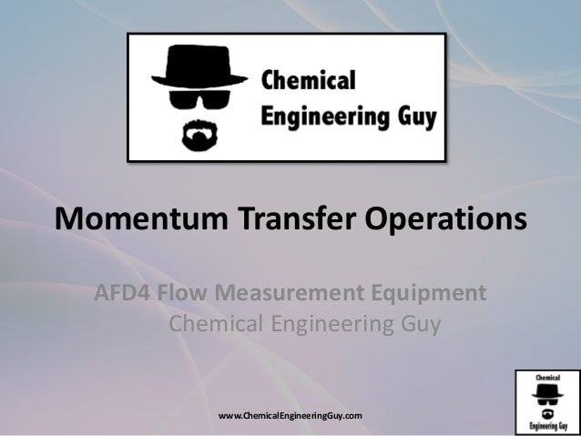 momentum transfer chemical engineering pdf