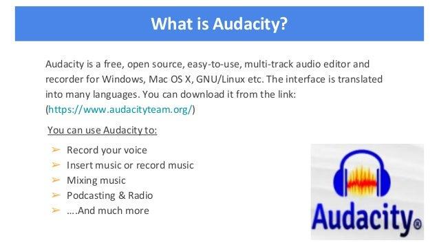 Audacity Workshop
