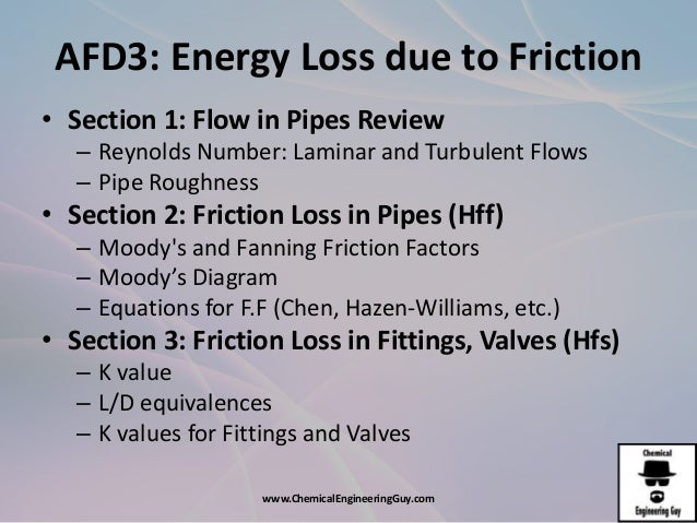 energy losses in pipes conclusion