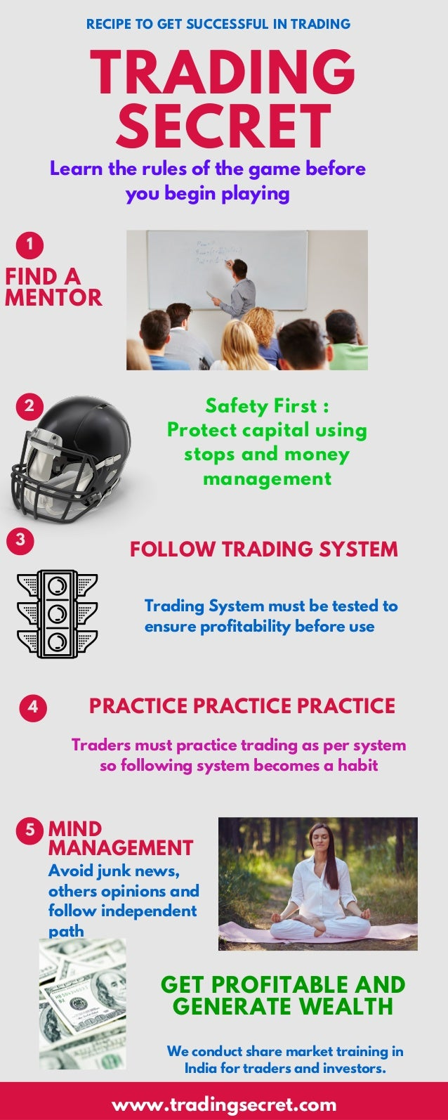 Learn the rules of the game before you begin playing Safety First : Protect capital using stops and money management TRADI...