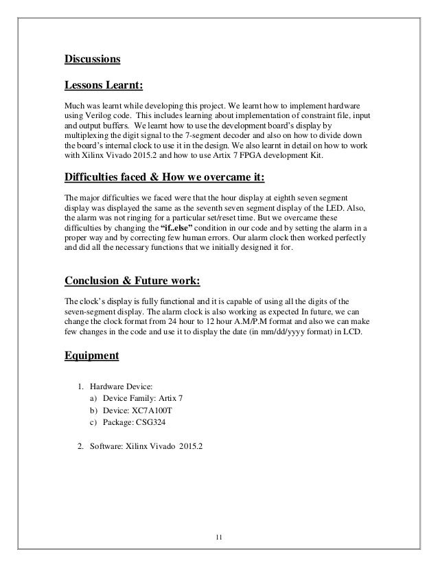 Digital Alarm Clock 446 project report