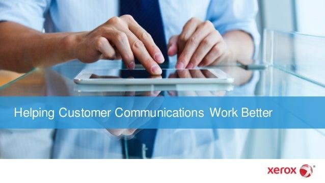 Helping Customer Communications Work Better