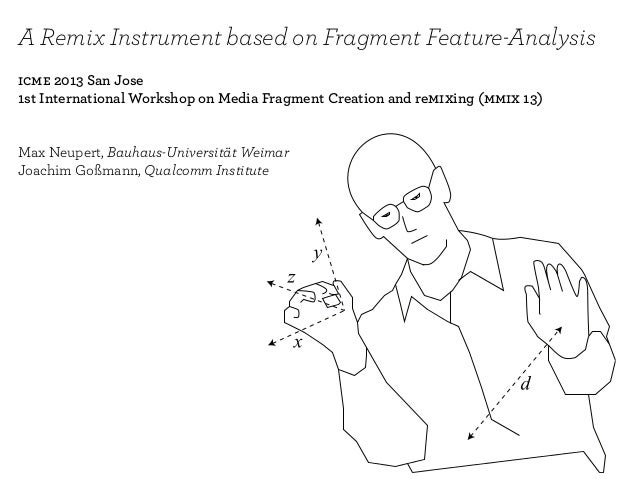 A Remix Instrument based on Fragment Feature-Analysis icme 2013 San Jose 1st International Workshop on Media Fragment Crea...