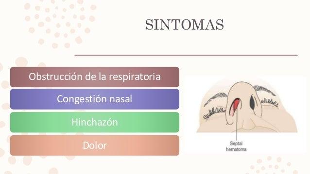SINTOMAS Obstrucción de la respiratoria Congestión nasal Hinchazón Dolor