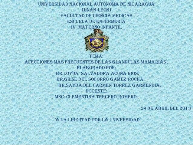 universidad nacional autónoma de Nicaragua(Unan-leon)Facultad de ciencia medicasEscuela de enfermeríaIv- materno infantilT...