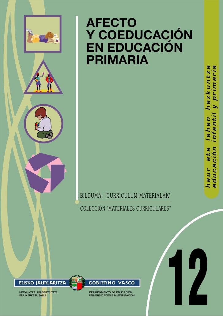 AFECTO                             Y COEDUCACIÓN                             EN EDUCACIÓN                             PRIM...