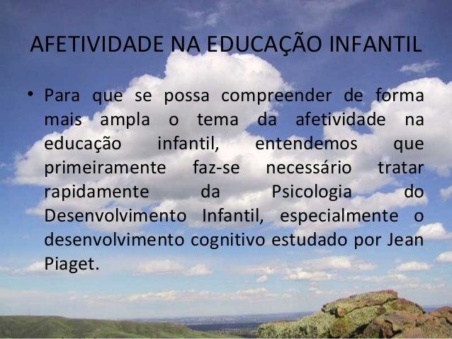 Afetividade Na Educação Infantil