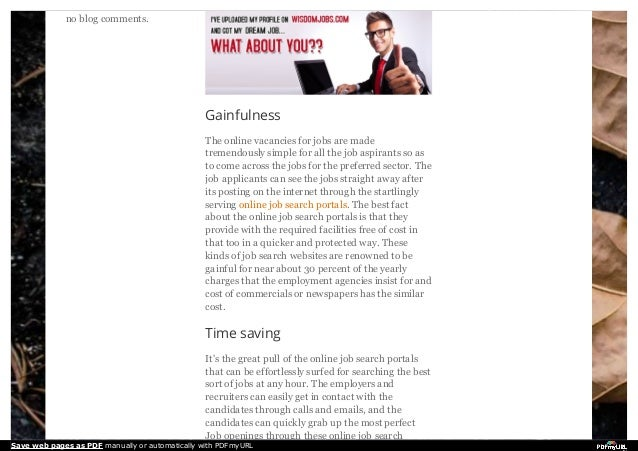 A few advantages of online job search portals for candidates