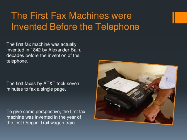 a few basic facts on fax machines