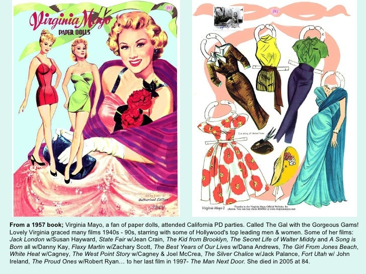 A Few Pages Of My Favorite Vintage Movie Star Paper Dolls