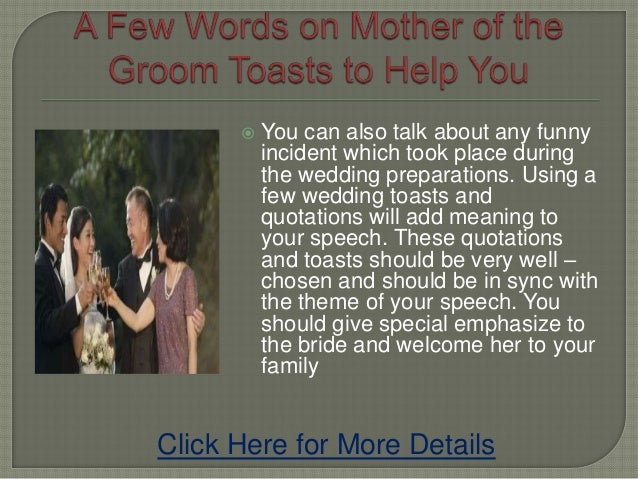 a few words on mother of the groom toasts to help you