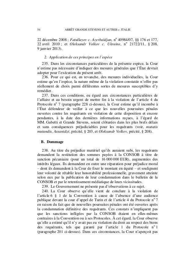 Affaire grande stevens et autres c. italie